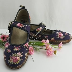 Doc Martens Floral Mary Jane Shoes Size 9